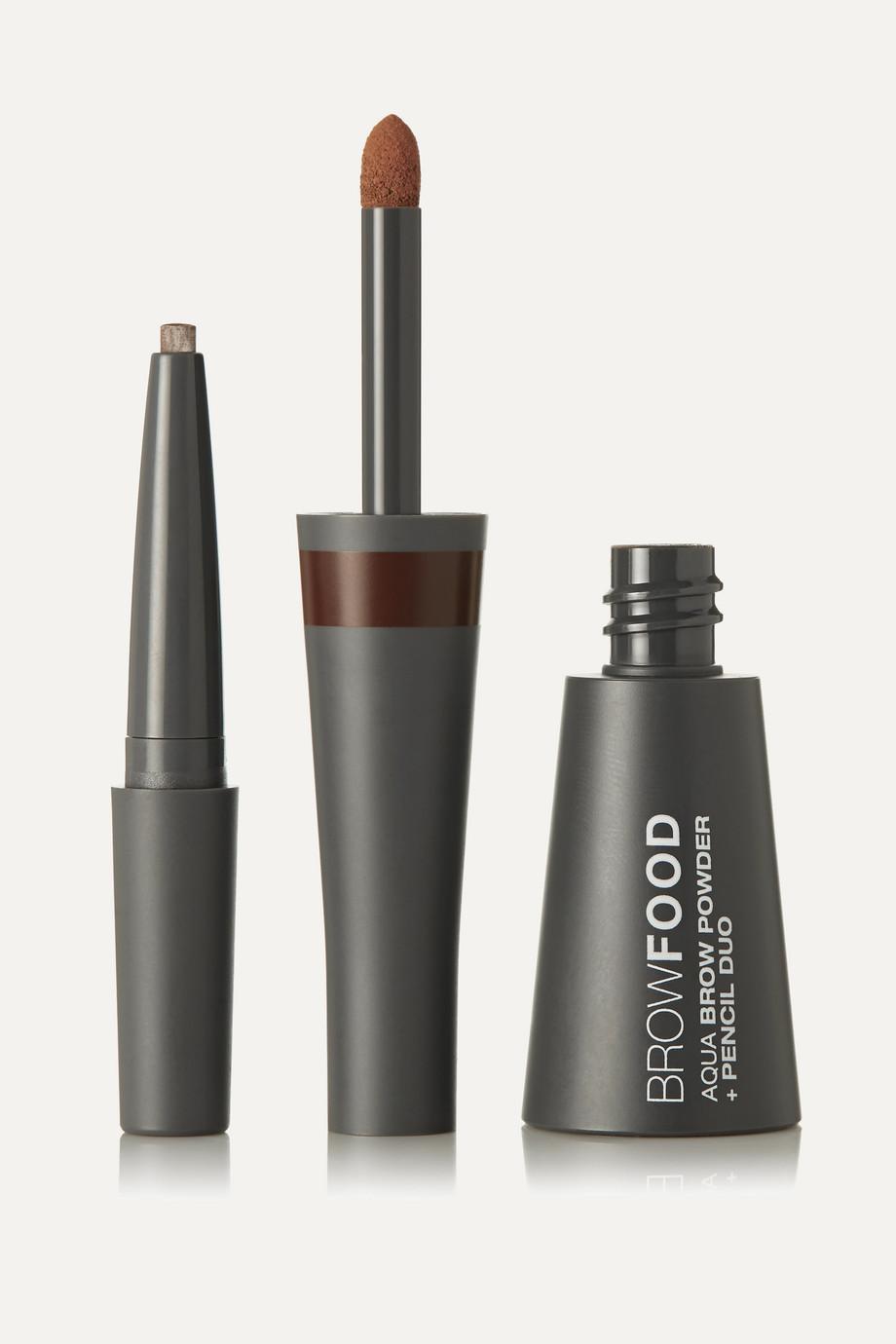 LashFood BrowFood Aqua Brow Powder + Pencil Duo - Brunette