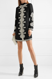 Tory Burch Sylvia embellished crepe mini dress