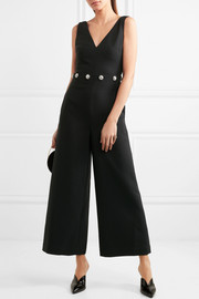 Tory Burch Fremont crystal-embellished twill jumpsuit