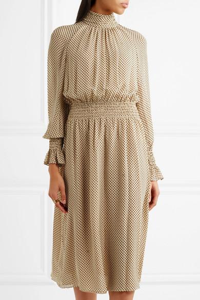 Tory Burch Colette bedrucktes Kleid aus Seiden-Georgette Rabatt Ebay xIHdWPc3ct