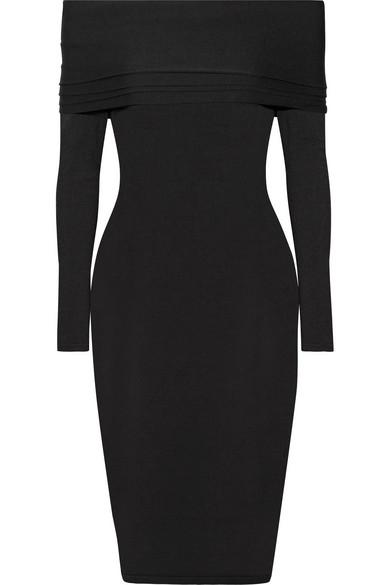 Venus off-the-shoulder stretch-knit midi dress