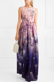 Mary Katrantzou + Disney printed silk-organza gown