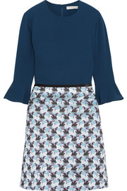 Mary Katrantzou Ligretto crepe and jacquard mini dress
