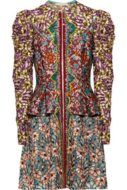 Mary Katrantzou Devar embellished brocade and embroidered tulle mini dress