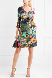 Mary Katrantzou Shea floral-print silk-faille dress