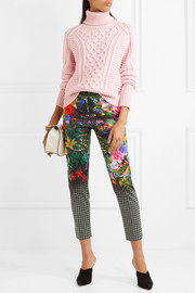 Mary Katrantzou Amra printed cotton-blend slim-leg pants