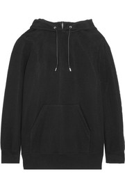 Cotton-blend hooded top