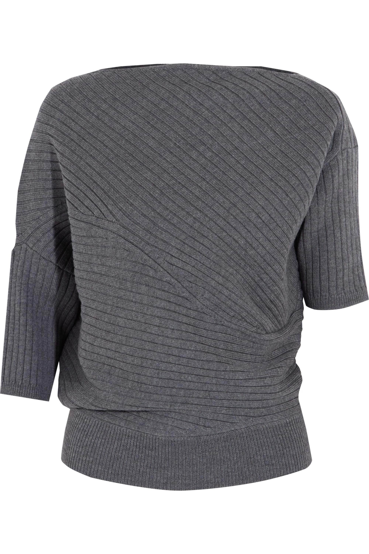 Gray Infinity Ribbed Merino Wool Sweater Jw Anderson Net A Porter