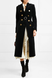 Sonia Rykiel Double-breasted cotton-velvet coat