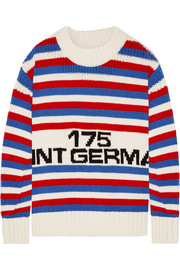 Oversized intarsia wool sweater
