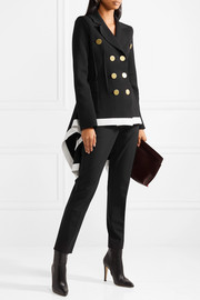 Sonia Rykiel Double-breasted asymmetric wool-blend jacket