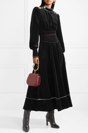 Sonia Rykiel Cotton-blend velvet maxi dress