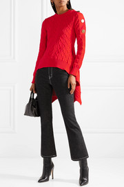 Sonia Rykiel Asymmetric cable-knit sweater