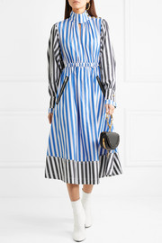 Sonia Rykiel Striped cotton-poplin midi dress