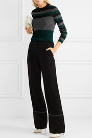 Sonia Rykiel Metallic ribbed-knit sweater