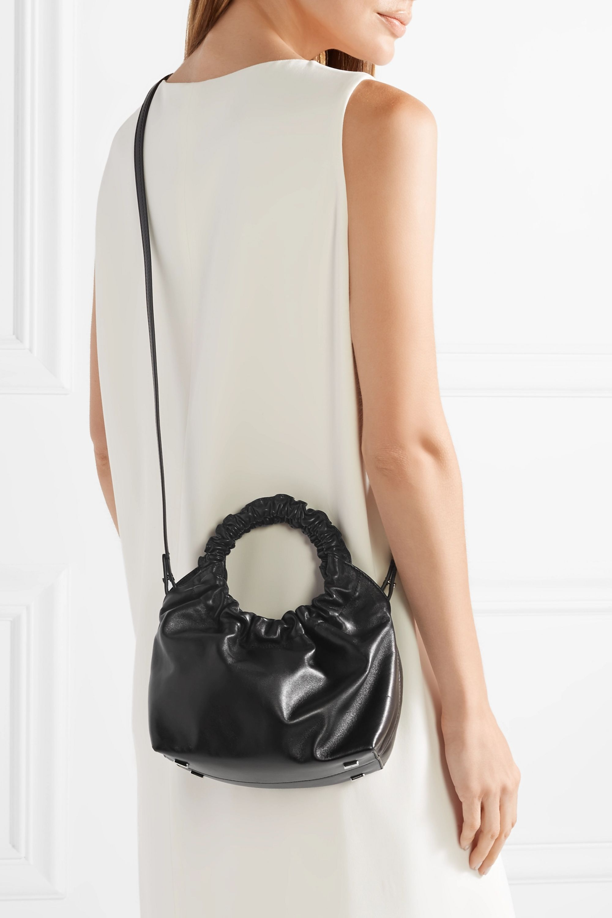 The Row Double Circle small leather tote