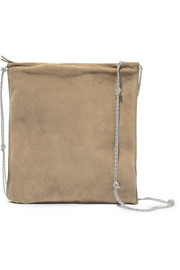 The Row Medicine large suede shoulder bag