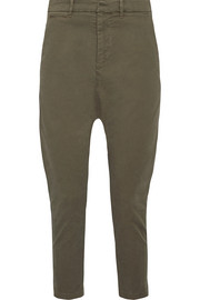 Jackson cropped stretch-cotton twill pants