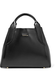 Cabas mini leather tote
