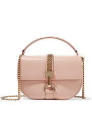 Lien mini chain-trimmed leather shoulder bag