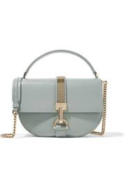 Lanvin Lien small chain-trimmed leather shoulder bag