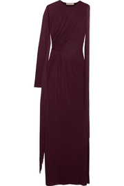Emilio Pucci Fringed one-shoulder jersey gown