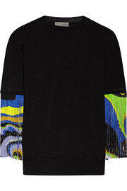 Fringed wool top