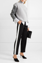 Victoria, Victoria Beckham Color-block wool turtleneck sweater