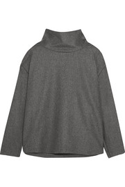 Victoria, Victoria Beckham Brushed wool and cashmere-blend top
