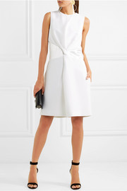 Victoria, Victoria Beckham Twisted crepe and satin mini dress