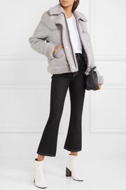 Victoria, Victoria Beckham Oversized leather-trimmed shearling jacket