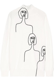 Victoria, Victoria Beckham Embroidered wool turtleneck sweater