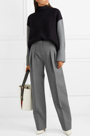 Victoria, Victoria Beckham Pleated wool-twill straight-leg pants