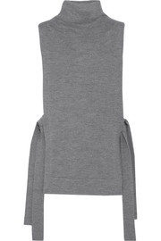 Victoria, Victoria Beckham Side-tie wool turtleneck top