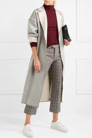 Victoria, Victoria Beckham Two-tone wool and cashmere-blend coat