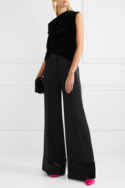 Peter Pilotto Cold-shoulder velvet top