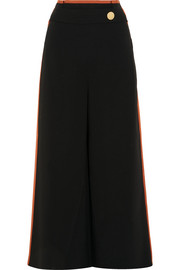 Peter Pilotto Grosgrain-trimmed cady culottes