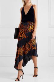 Peter Pilotto Embroidered silk skirt