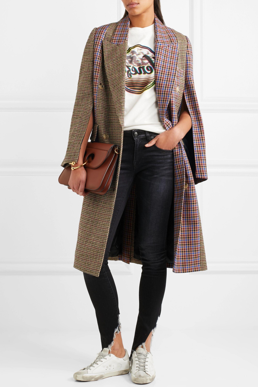 Golden Goose Nina oversized patchwork wool-blend tweed coat