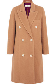 Nina double-breasted textured-wool coat