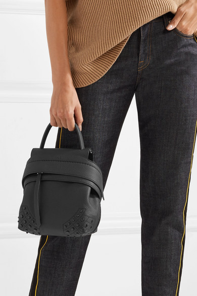 3a2d8b3d592 Tod's | Wave mini embellished textured-leather backpack | NET-A ...