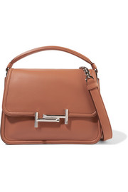 Double T leather shoulder bag