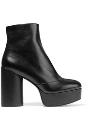 Amber leather platform ankle boots