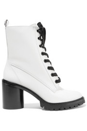 Marc Jacobs Ryder lace-up polished-leather ankle boots