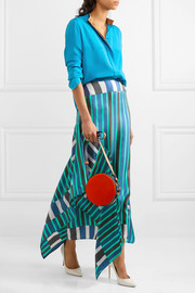 Diane von Furstenberg Circle color-block leather and calf hair shoulder bag