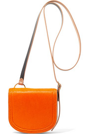 Diane von Furstenberg Saddle mini calf hair and leather shoulder bag