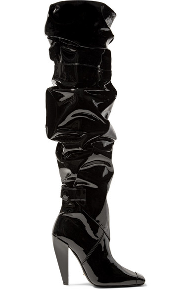 TOM FORD Kniehohe Stiefel aus Lackleder
