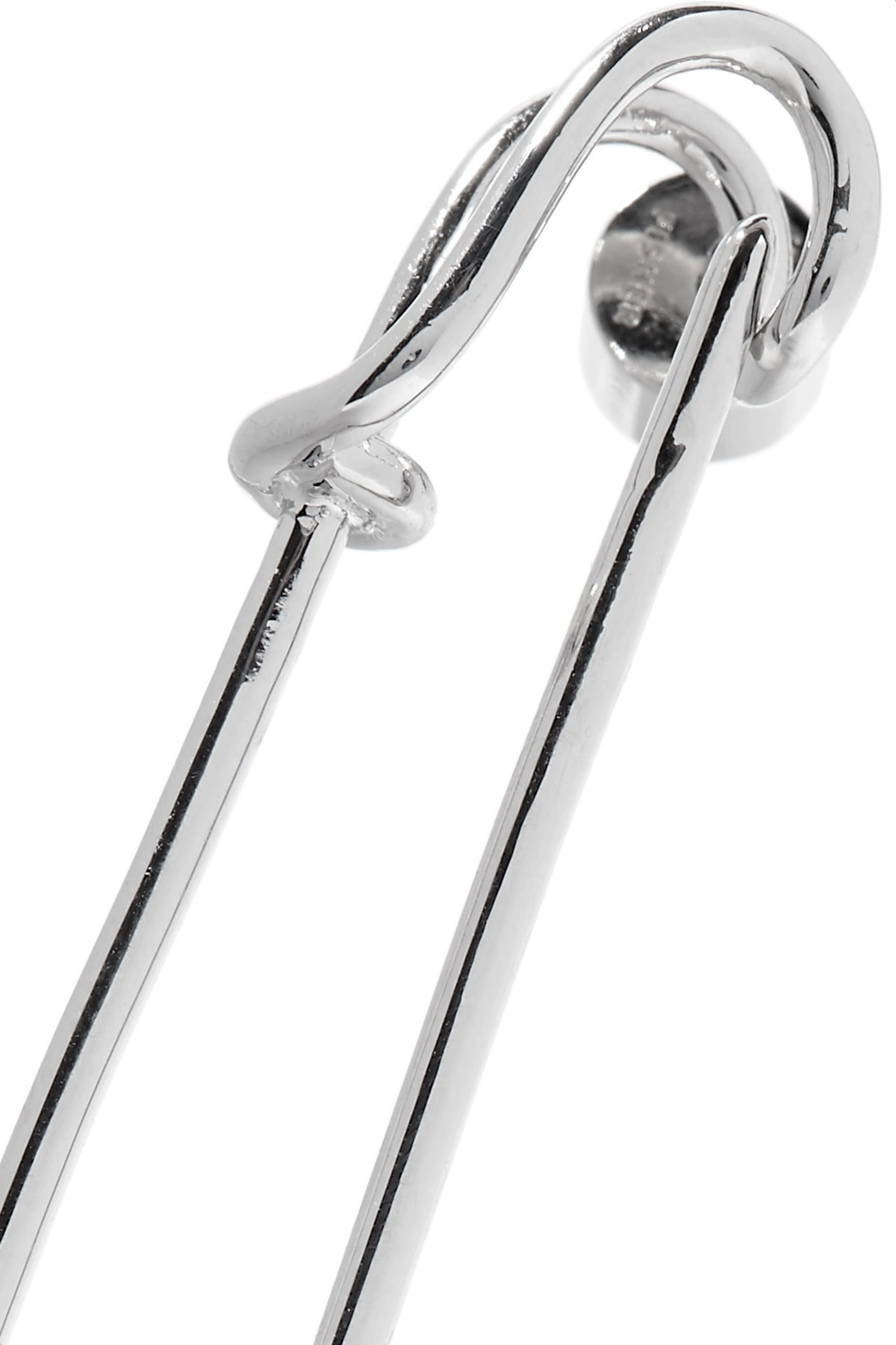 Jennifer Fisher Safety Pin silver-plated earring
