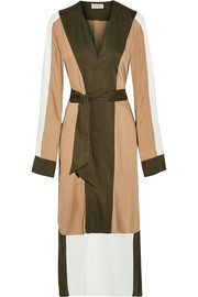Color-block jersey robe
