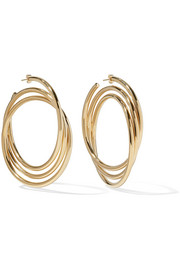 Marc Jacobs Gold-plated hoop earrings